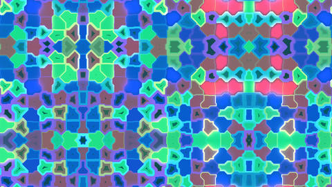 Techno Carpet - 4k Kaleidoscopic Multicolor Madness Video Background Loop Animation