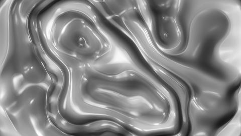 Metal Flow 1 - 4k Metallic Organic Fluid Video Background Loop Animación