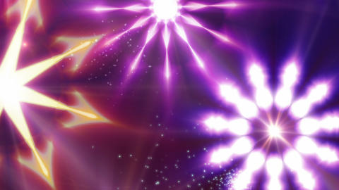 Silquestar Deluxe - Glamorous Christmas Stars Video Background Loop Animation