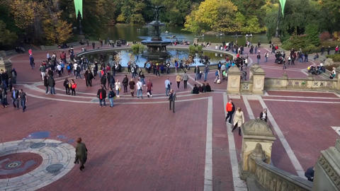 NEW YORK CITY – CIRCA OCTOBER, 2015: Central Park in autumn. This is the city  Footage