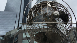 NEW YORK CITY - CIRCA OCTOBER, 2015: Columbus Circle, completed in 1905 and reno Live Action
