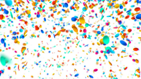 Colorful circles confetti falling animation Animation