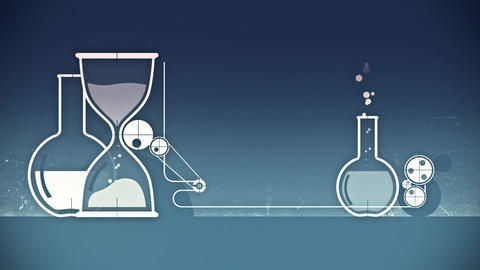 Animation of graphic elements with test-tubes Animation