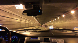 NEW YORK CITY – CIRCA OCTOBER, 2015: Vehicle enters the Lincoln Tunnel in New  Footage