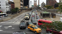 NEW YORK CITY - CIRCA OCTOBER, 2015: Manhattan traffic in New York City. Traffic Live Action