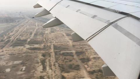 Dubai Airplane Arrival Footage