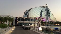 DUBAI, UAE – NOV 22: Burj Al Arab hotel on November 22, 2015 in Dubai, UAE. Bu Footage