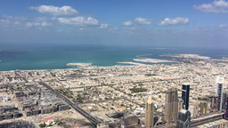 Dubai Coast Aerial View Footage