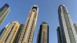 Dubai Marina Skyline Footage