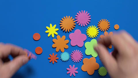 Colored Applique stock footage