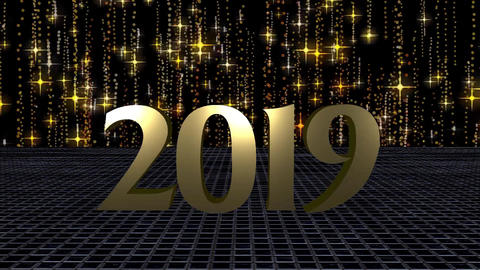 2019 Happy New Year, HD Video Animation