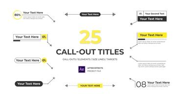 Modern Call Out Titles After Effects Template