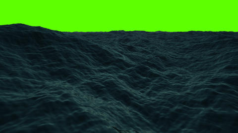 Middle of the Sea on a Green Screen GIF
