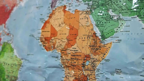Africa On World Map Live Action