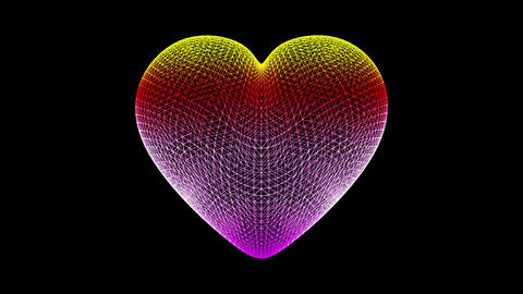 Heart-shaped fluid composed of particles Animación