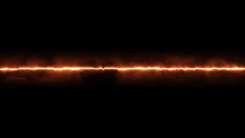 One flame line passing through the center Animación