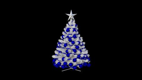 Christmas tree, loop, animation,transparent background Footage
