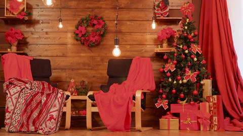 Red Christmas Room Footage