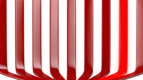 Pulsating red stripes Animation
