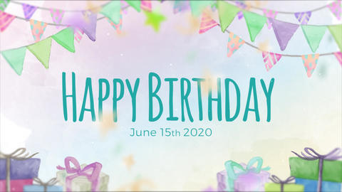 Birthday Slideshow After Effects Template