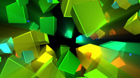 Psychedelic Shine Rays Rotating Cubes Abstract Motion Background Loop 2 Animation