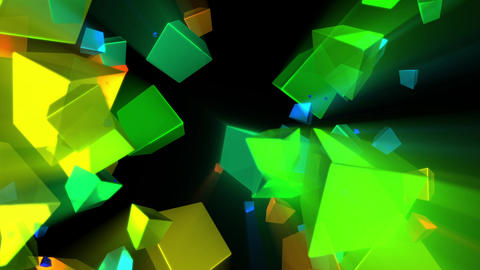 Psychedelic Shine Rays Rotating Cubes Abstract Motion Background Loop 1 Animation