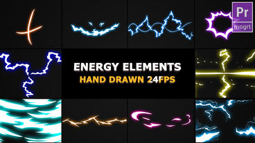 Flash FX Energy Elements And Transitions Motion Graphics Template