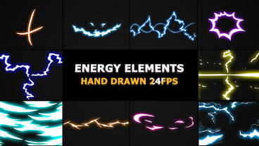 Flash FX Energy Elements And Transitions After Effects Template