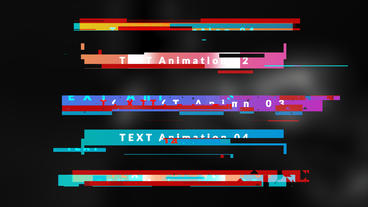 Boxed Glitch Titles モーショングラフィックステンプレート