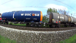 Cargo train pass by Footage