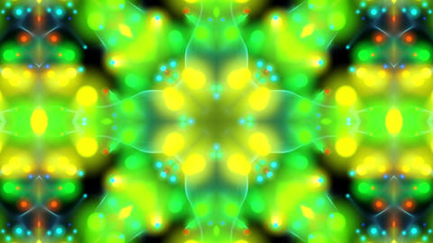 Psychedelic Green Lights Kaleidoscope Abstract Motion Background Loop 2 CG動画素材