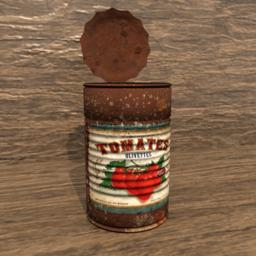 Old Rusty Can Modelo 3D