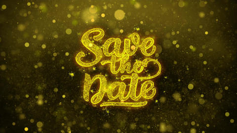 Save the Date Wishes Greetings card, Invitation, Celebration Firework Live Action