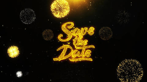 Save the Date Wishes Greetings card, Invitation,... Stock Video Footage