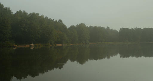cool fog fell on the river Footage