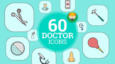 Hospital Flat Elements Plantilla de After Effects