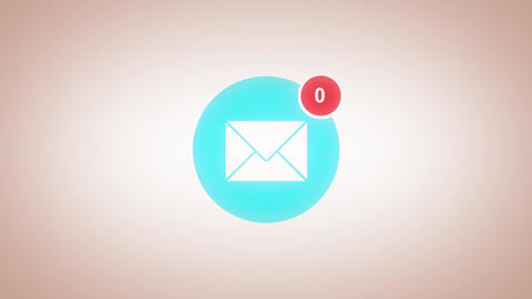 You Have Received 100 Messages In Email Box Animation