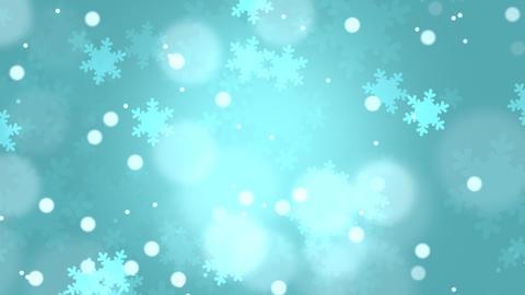 Christmas Snowflakes Blue Background Animation