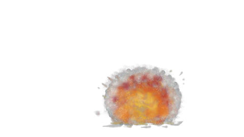 Bomb Explosion Watercolor 2D Animation, Stock Animation