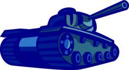 American World War Two Battle Tank Retro Vector