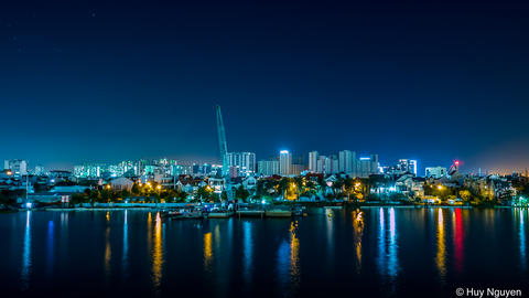 Riverside view of Ho Chi Minh City, Vietnam Photo