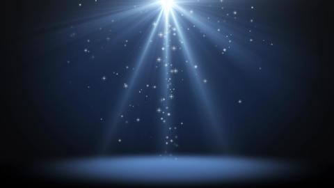 Glitter Light Blue Background Loop Animation