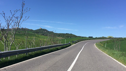 Driving along Tuscany Hills in spring season Footage