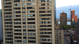 Manhattan skyline and buildings as seen from rootop Footage