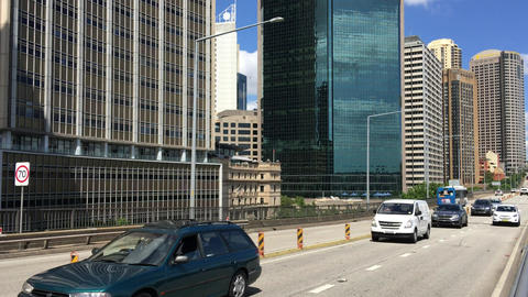 SYDNEY – NOVEMBER 2015: Traffic along Circular Quay. The city attracts 10 mill Footage