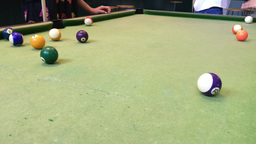 Playing Pool in a pub Footage