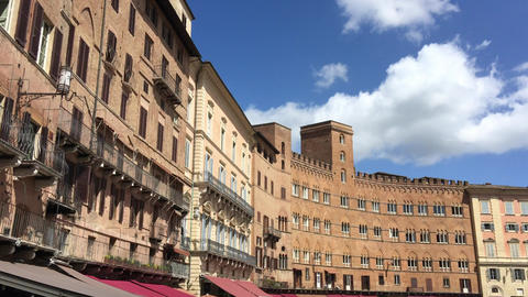 SIENA – APRIL 2016: Tourists in Piazza del Campo. Siena is a major destination Footage