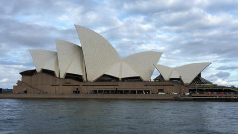 SYDNEY – NOVEMBER 2015: Sydney Opera House from moving ferry. Sydney attracts  Footage