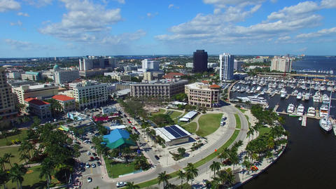 West Palm Beach, Florida. Beautiful aerial view Footage