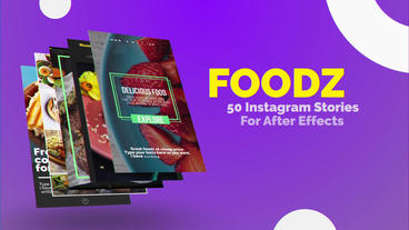 Foodz Instagram Stories After Effects Template